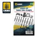 AMMO[AMIG8083]1/35 WW.II米軍戦車用工具クランプ