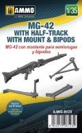 AMMO[AMIG8123]1/35 MG-42機関銃w/ハーフトラック用マウント  & バイポッド