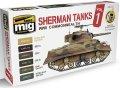 AMMO[AMIG7169]シャーマン戦車 カラーセット Vol.1  WW.IIイギリス連邦