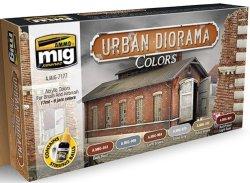 画像1: AMMO[AMIG7177]都市のダイオラマ用カラーセット 17mlx6本