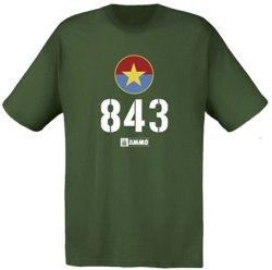 画像1: AMMO[AMO- 8031XXXL]北ベトナム軍 T-54 843号車 Tシャツ (XXXL)