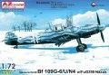 AZモデル[AZM7614]1/72 Bf109G-6/U/N4夜間戦闘機w/FuG350