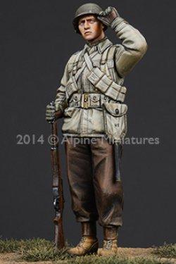 画像2: Alpine Miniatures[AM35185] 1/35 WWII米 歩兵(M43ジャケット冬装)