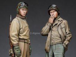画像1: Alpine Miniatures[AM35192]米戦車兵(冬季軍装)(2体セット)
