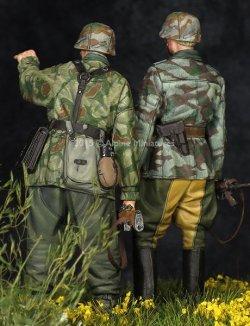 画像4: Alpine Miniatures[AM35195]WWII独 擲弾兵(スプリンター迷彩服)(2体セット)