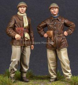 画像1: Alpine Miniatures[AM35198]1/35 WWII フランス戦車兵(2体セット)