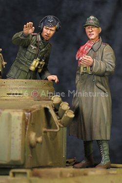 画像2: Alpine Miniatures[AM35210]1/35 WWII独 アフリカ軍団 装甲部隊指揮官セット(2体セット)