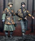 Alpine Miniatures[AM35213]1/35 WWII独 武装親衛隊歩兵 ハンセン戦闘団(バルジの戦い)(2体セット)