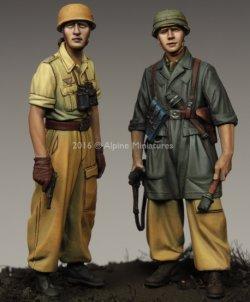 画像4: Alpine Miniatures[AM35222]1/35 WWII独 イタリア戦線の第1降下猟兵師団 (2体セット)(熱帯軍装)