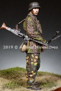 Alpine Miniatures[AM35266]1/35 WWII 独 MG43を抱える射撃手 SS第12HJ師団