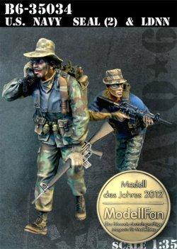 画像1: Bravo6[B6-35034]1/35 ネイビーシールズ(2)とベトナム人シールズ(2体セット)