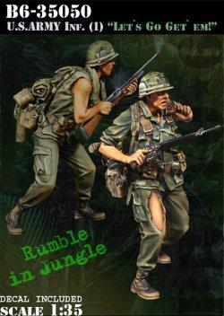画像1: Bravo6[B6-35050]1/35 米 歩兵ベトナム(1)M16小銃兵(2体セット)