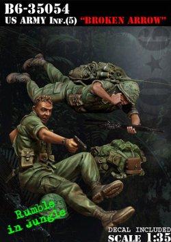画像1: Bravo6[B6-35054]1/35 米 歩兵ベトナム(5)追い詰められた無線手と小銃手(2体セット)