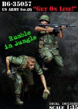 """画像1: Bravo6[B6-35057]1/35 米 歩兵ベトナム(8)""""俺に続け!"""""""