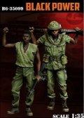 Bravo6[B6-35099]1/35 米 黒人兵セット「ブラックパワー」(2体セット)