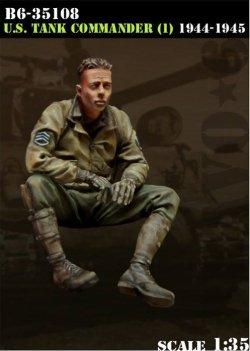 画像1: Bravo6[B6-35108]1/35 米戦車指揮官1944-45 イージーエイト搭乗(1)