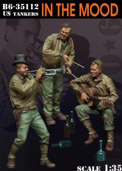 画像1: Bravo6[B6-35112]1/35  WWII米 楽器を演奏する戦車兵