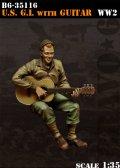 Bravo6[B6-35116]1/35  WWII米 ギターを演奏する兵士