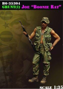 画像1: Bravo6[B6-35304]1/35 米 ベトナム68〜69 ブーニーハットを被った古参兵のジョー
