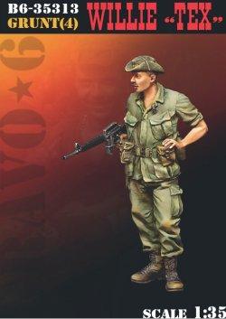 """画像1: Bravo6[B6-35313]1/35 ベトナム68〜69 M16を持つ古参のウィリー""""テックス"""""""