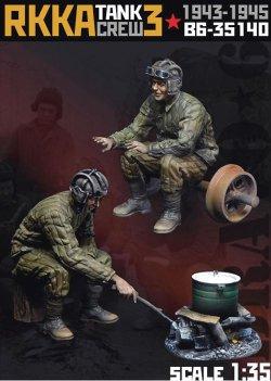 画像1: Bravo6[B6-35140]1/35 露/ソ ソビエト赤軍 RKKA戦車兵3 焚火と二人組みの戦車兵1943〜45