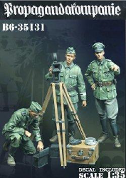 画像1: Bravo6[B6-35131]1/35 WWII 独 ドイツ陸軍宣伝中隊「撮影準備を開始せよ」