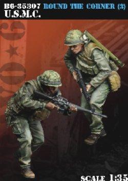 画像1: Bravo6[B6-35307]1/35 ベトナム戦争 米 米海兵隊 USMC「間近だぞ!」(3)