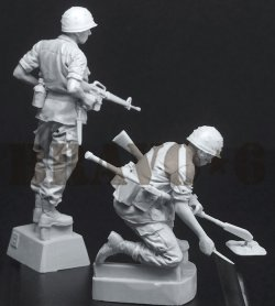 画像3: Bravo6[B6-35309]1/35 ベトナム戦争 米陸軍 「踏むなよ」地雷探索を行う工兵隊
