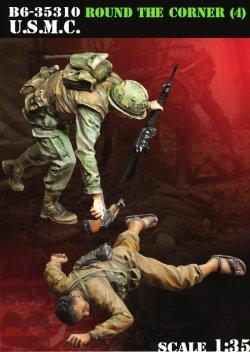 画像1: Bravo6[B6-35310]1/35 ベトナム戦争 米海兵隊「曲がり角の先に」(4) 武装解除する海兵隊員