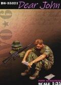 Bravo6[B6-35321]1/35 ベトナム戦争 米「親愛なるジョンへ」手紙を読むGI