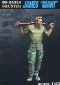 "Bravo6[B6-35324]1/35 ベトナム戦争 米 ショットガンを担ぐ""巨漢""のジェームス"