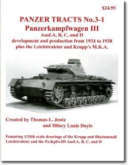 画像1: [PANZER_TRACTS_3-1]III号戦車A,B,C,D型,リヒトトラクター,クルップM.K.A.