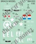 BrachModel[BM-D03]1/35 1/35シトロエン11CVスタッフカー 軍用デカールセット