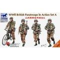 ブロンコ[Bro35177]1/35 イギリス空挺部隊Aセット兵士4体+自転車・行軍中