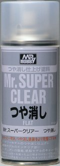 GSIクレオス[B514]Mr.スーパークリアー(溶剤系スプレー) つや消し
