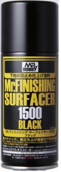 GSIクレオス[B526]Mr.フィニッシング サーフェイサー1500 ブラック スプレー