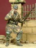 D-Day miniature studio[DD35050] 1/35 WWII独 叫ぶ武装親衛隊将校(アノラック姿)