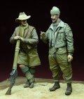 D-Day miniature studio[DD35061]1/35 WWII英 LRDG 兵士セット 北アフリカ 1940-43(2体セット)