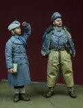 D-Day miniature studio[DD35076] 1/35 WWII独 空軍パイロット&女性補助隊員(冬季)1942-1945(2体セット)