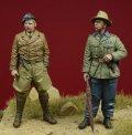 D-Day miniature studio[DD35087]1/35 WWII独 1/35 コンドル軍団 装甲部隊将校セット(2体セット)