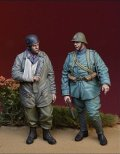 D-Day miniature studio[DD35127]1/35 WWII蘭独捕虜を連行するオランダ陸軍歩兵と捕虜となり手当を受けたドイツ降下猟兵西部戦線オランダ1940年