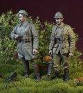 D-Day miniature studio[DD35137]1/35 WWII ベルギー陸軍兵士セット「小休止するベルギー兵」1940年