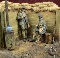 D-Day miniature studio[DD35036] 1/35 WWI英 塹壕で休息中の兵士(2体セット)