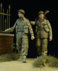 D-Day miniature studio[DD35015] 1/35 WWII 英/英連邦歩兵 2体セット 行軍中 1942-1945