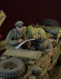D-Day miniature studio[DD35157]1/35 WWII 独 武装SS シュビムワーゲン搭乗者セット アルデンヌ1944