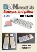 DANmodels[DAN35306]1/35 マットレス & 枕 (各2個入り)