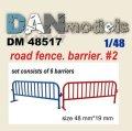 DANmodels[DAN48517]1/48 ガードフェンス #2 (6個入り)