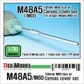 DEF.MODEL[DM35082]1/35 米 M48A5/M60 105mm金属砲身+防循カバー(ドラゴン用)