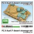 DEF.MODEL[DM35118]1/35 WWIIドイツ陸軍II号戦車F型 北アフリカ戦線車載収納セット(アカデミー用)