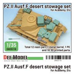画像1: DEF.MODEL[DM35118]1/35 WWIIドイツ陸軍II号戦車F型 北アフリカ戦線車載収納セット(アカデミー用)